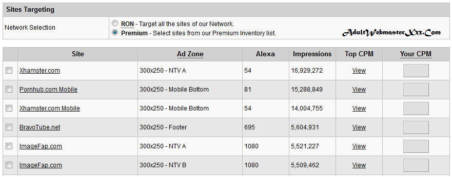 exoclick Sites Targeting
