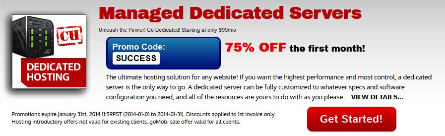 Managed Dedicated Server hosting